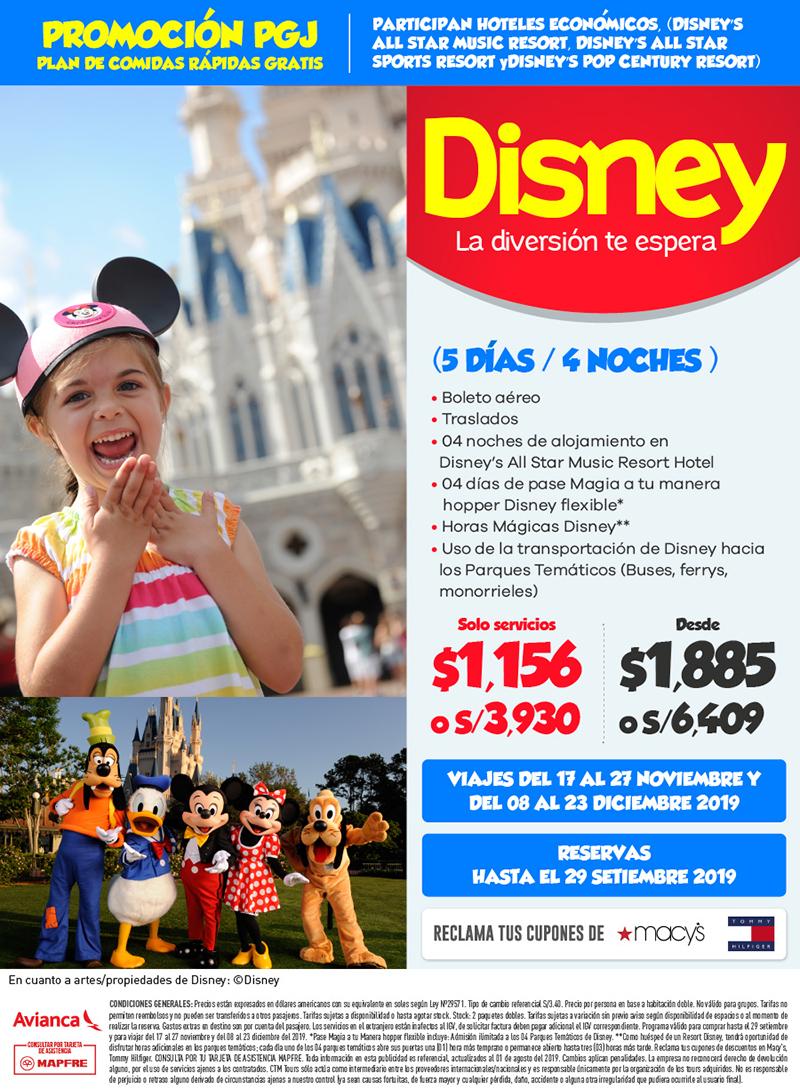 Disney PGJ Hoteles  Economicos