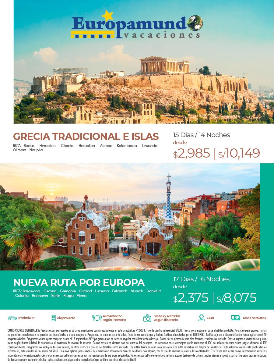 Grecia Tradicional & Nueva Ruta por Europa – Europamundo